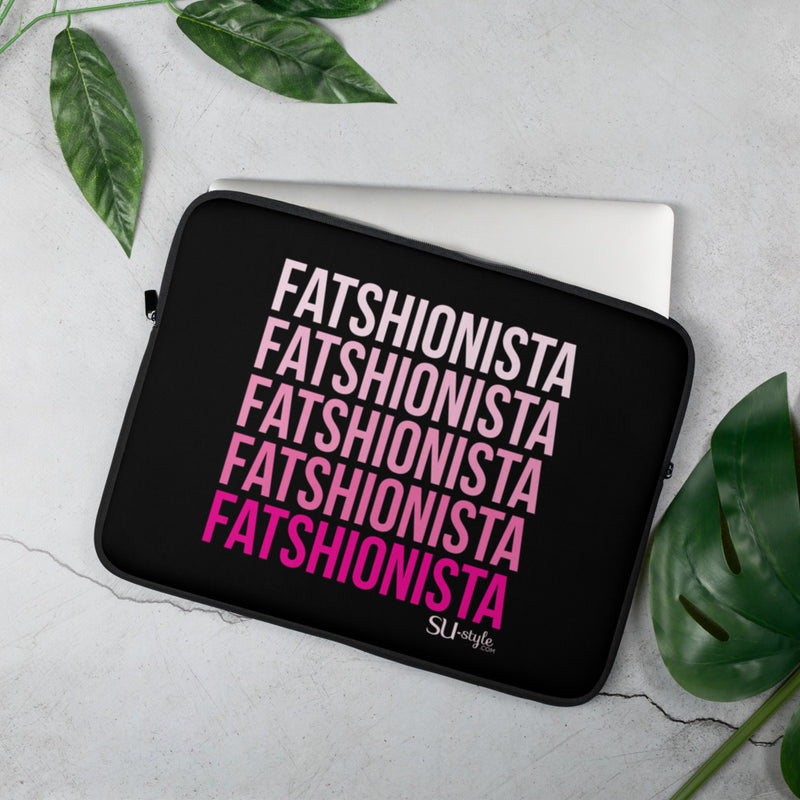 LAPTOP COVER- FATSHIONISTA NEGRO