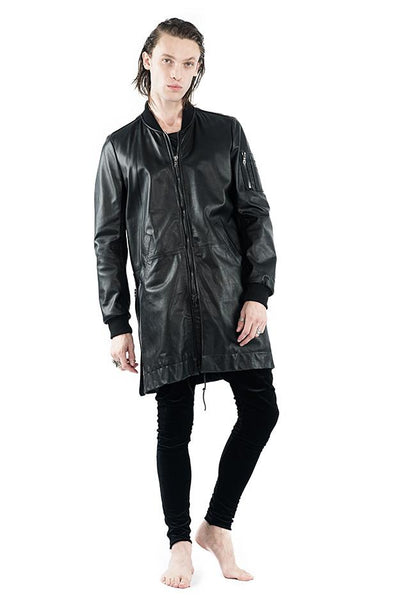 Elongated Leather M1A BOMBER