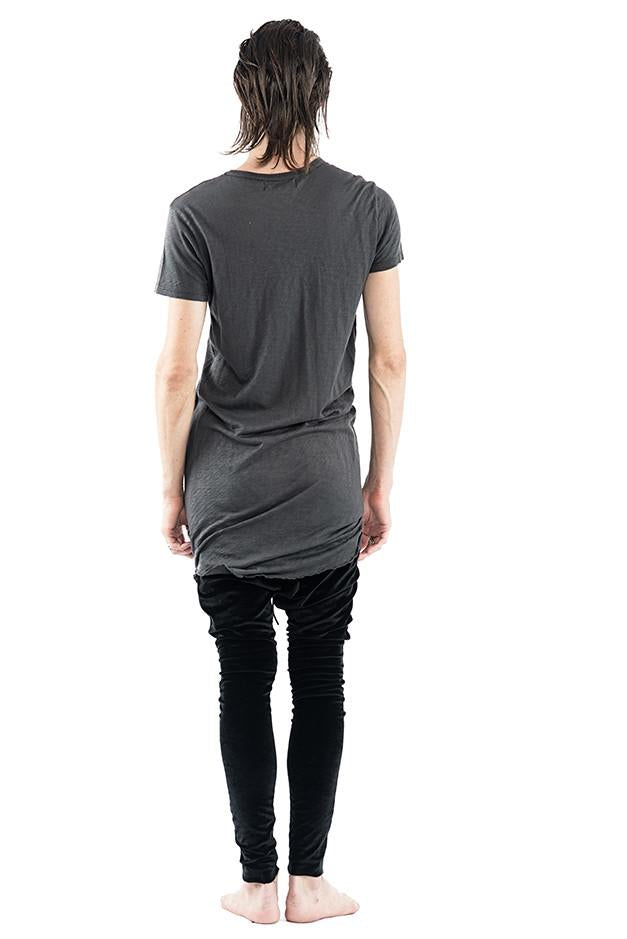 Elongated Crew Neck Tee - Charcoal