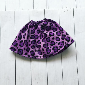 FLASH SALE YOSD Purple leopard skirt for BJD dolls READY to SHIP - Monstro Designs