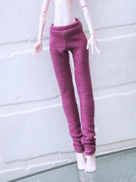 Magenta wash jegging leggings for Monster High dolls READY to SHIP - Monstro Designs