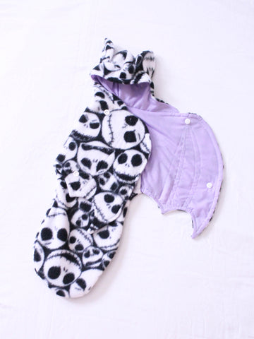 OOAK MSD BJD Jack skull with lilac bat wrap Ready to Ship - Monstro Designs