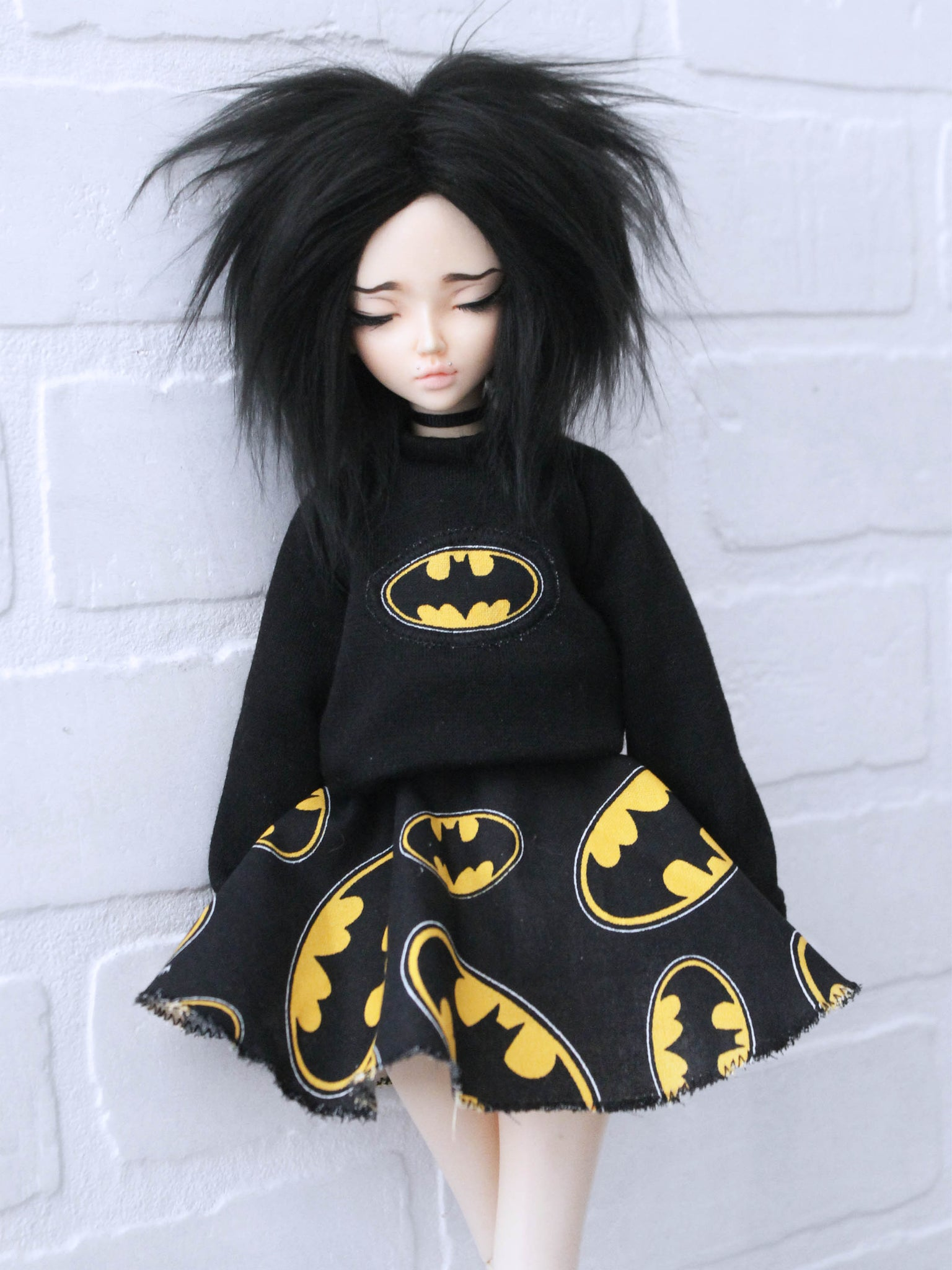 Batman Pullover and Skirt set for Minifee Ready to Ship - Monstro Designs