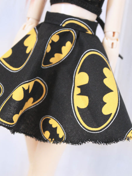 Batman high waist circle skirt for Minifee Ready to Ship - Monstro Designs