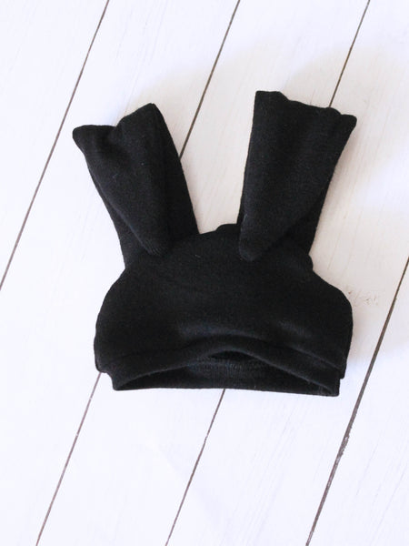 FLASH SALE Black bunny beanie for MSD dolls - Monstro Designs