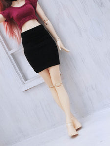 Black pencil skirt for Minifee - Monstro Designs