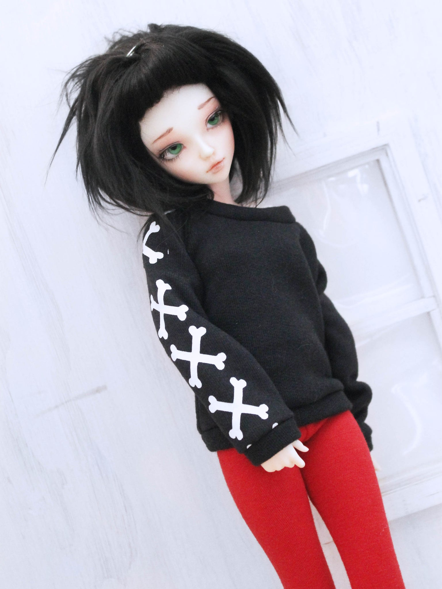 Black cross bones Pullover for Minifee Ready to Ship - Monstro Designs