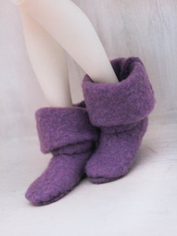 MSD BJD Fairy boots in Purple - Monstro Designs
