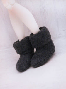 MSD BJD Fairy boots in Dark Grey - Monstro Designs