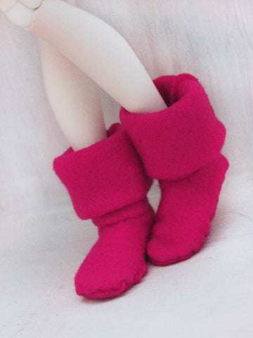 MSD BJD Fairy boots in Hot Pink - Monstro Designs