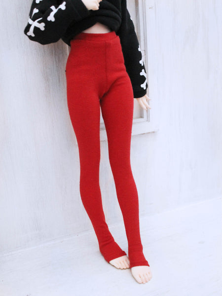 Red High waist leggings for Minifee by MonstroDesigns Ready to Ship - Monstro Designs