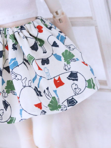 White washer girl skirt for Minifee READY to SHIP - Monstro Designs