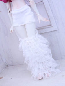 White ruffles lace under skirt for Minifee Ready to Ship - Monstro Designs