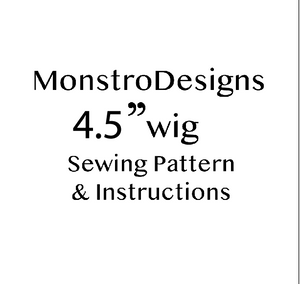"4.5""  Monster High Fake Fur Sewing pattern .PDF with instructions - Monstro Designs"