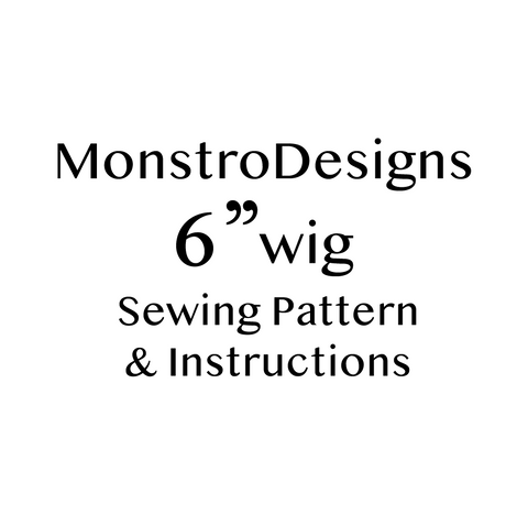 "6"" Fake Fur Sewing pattern .PDF with instructions - Monstro Designs"