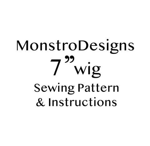 "7"" Fake Fur Sewing pattern .PDF with instructions - Monstro Designs"