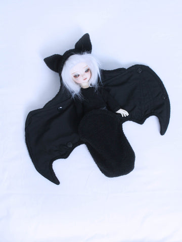 YOSD BJD black bat wrap Ready to Ship - Monstro Designs