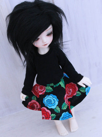 Roses circle skirt for YOSD by MonstroDesigns Ready to Ship - Monstro Designs