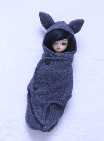 YOSD BJD Grey bat wrap Ready to Ship - Monstro Designs