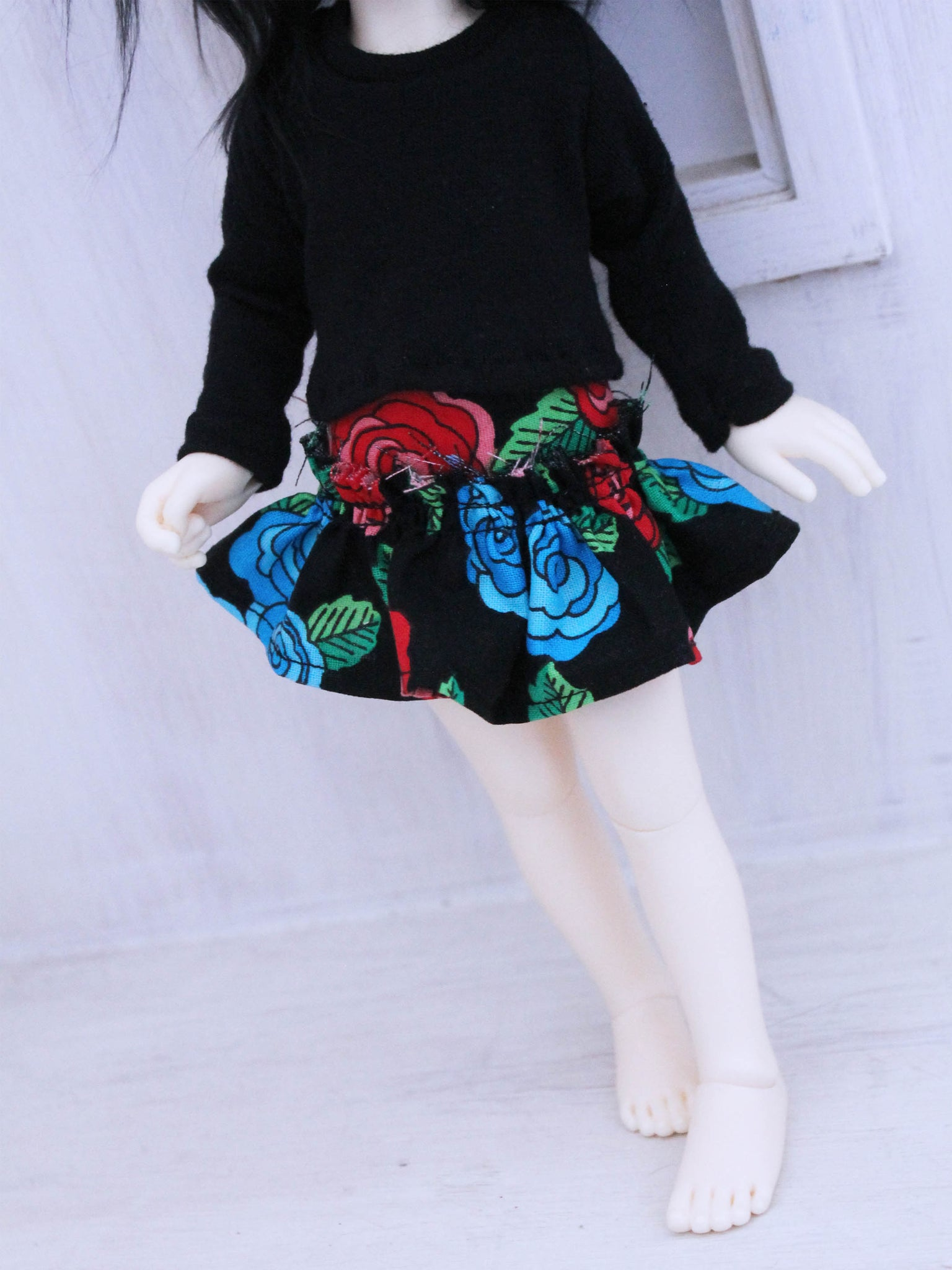 One of a kind Ruffles Roses skirt for YOSD by MonstroDesigns Ready to Ship - Monstro Designs