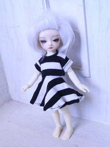 Black stripe T shirt dress for YOSD Ready to Ship - Monstro Designs