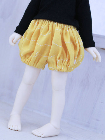 Yellow bumble bee bloomers for YOSD dolls