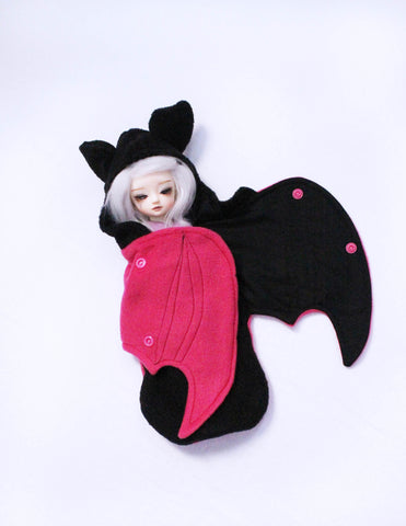 YOSD BJD black and hot pink LIMITED EDITION bat wrap