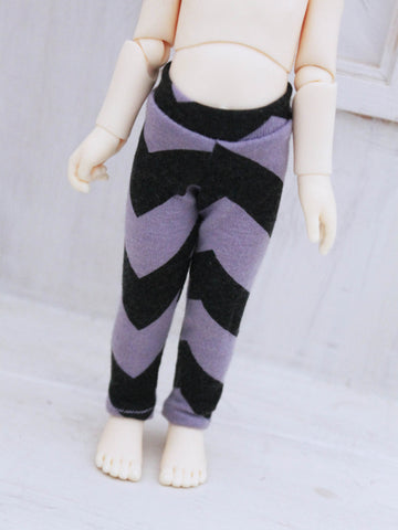 Purple chevron leggings for YOSD by MonstroDesigns Ready to Ship - Monstro Designs