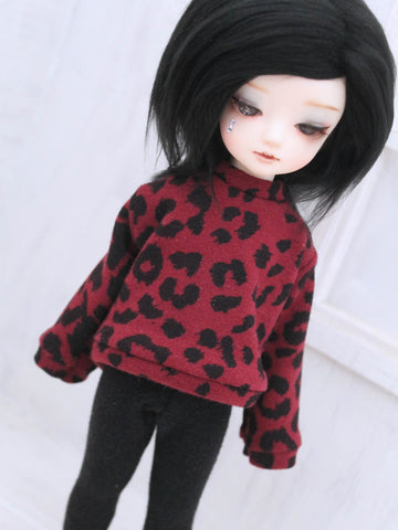Burgundy leopard print Pullover for YOSD Ready to Ship - Monstro Designs