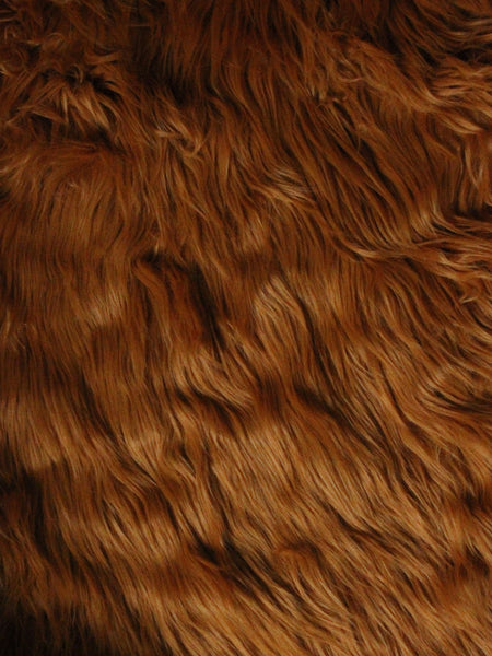 "3"" Carrot fake fur fabric by the piece - Monstro Designs"