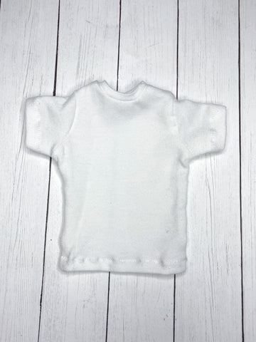 FLASH SALE White oversized boyfriend t shirt for Male BJD MSD ready to ship