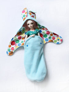 Spring Bunny Wrap One of a kind For MSD sized Ball Jointed Dolls - Monstro Designs