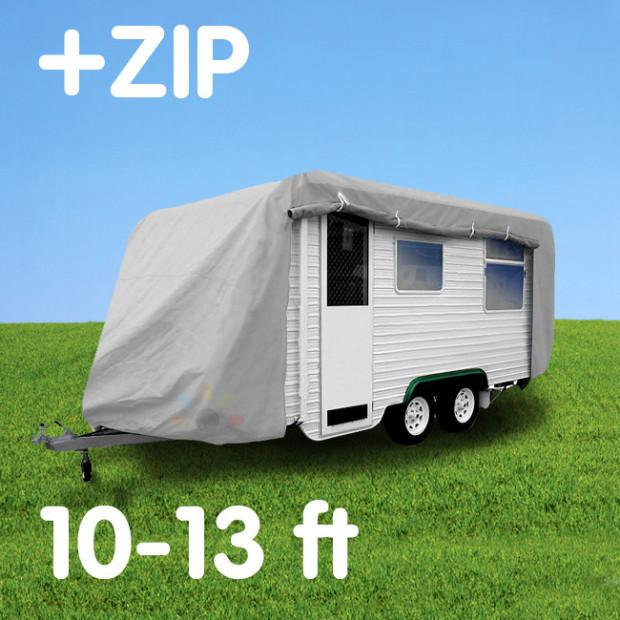 Budget Caravan Cover With Zip 10'-13' - Caravan Covers Direct