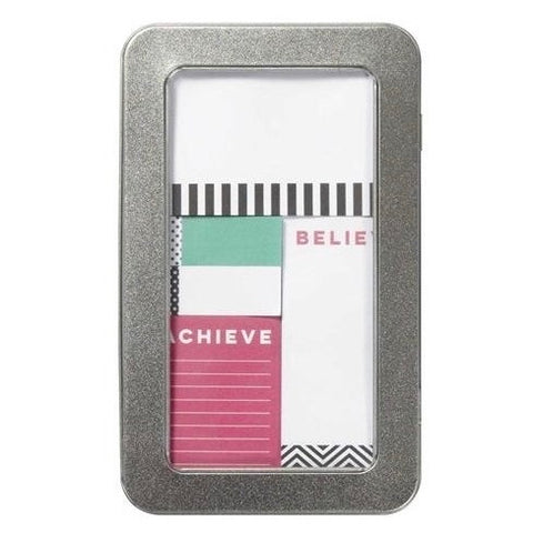 DREAM BELIEVE ACHIEVE sticky notes set