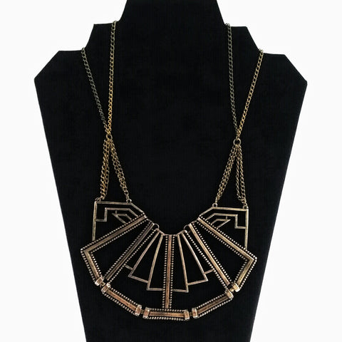 Gold Geometric Collar Necklace