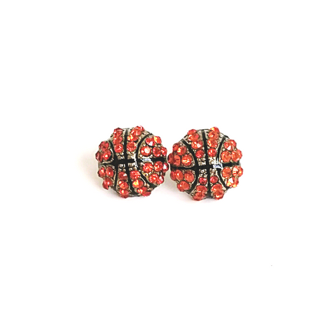 Basketball Rhinestone Stud Earrings