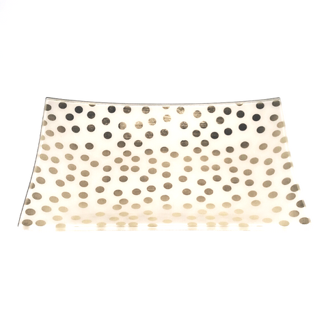Gold Dots confetti glass trinket jewelry tray