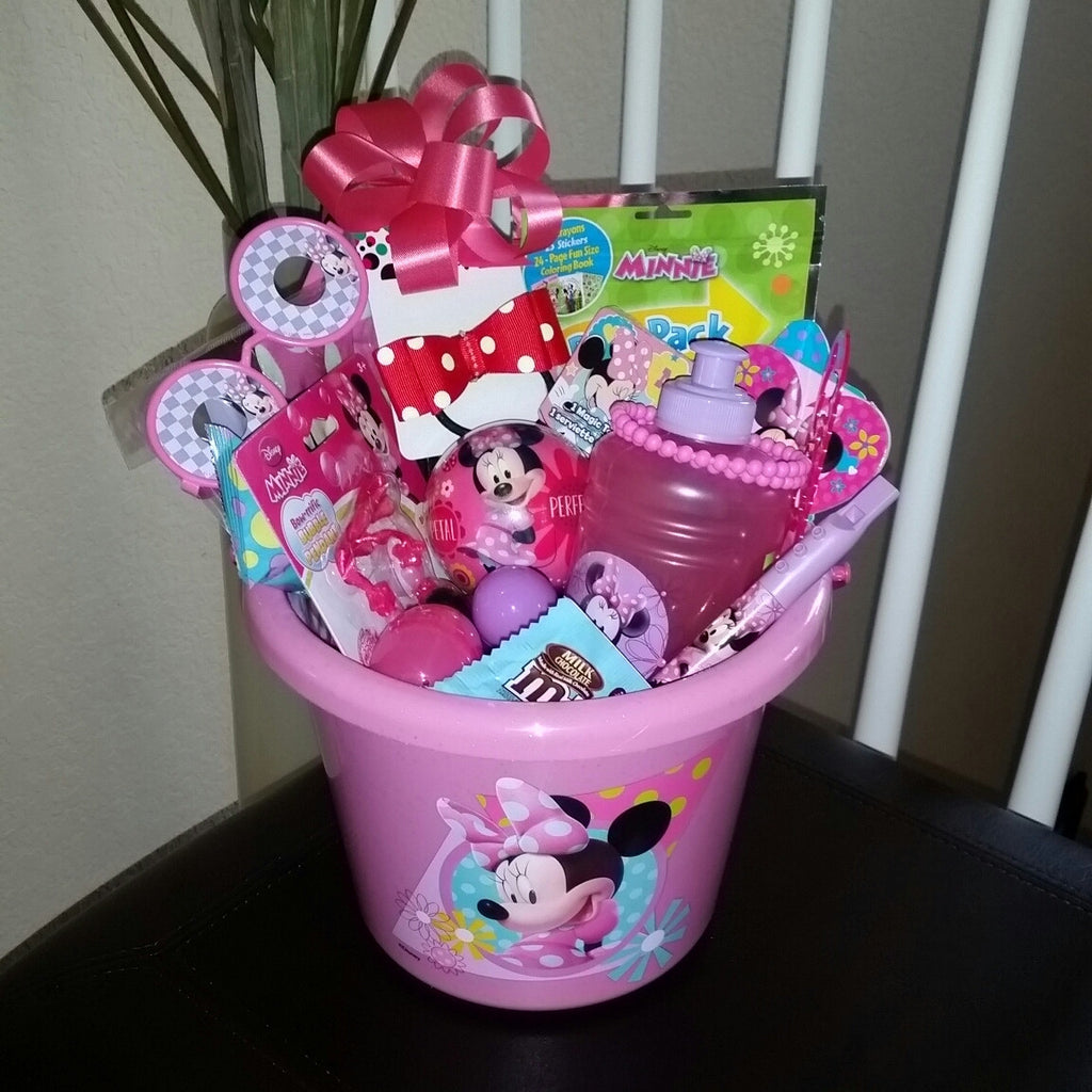 Filled easter baskets minnie mouse easter basket gift bella house of mel negle Gallery