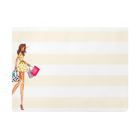 Fashionista Shopper magnetic memo list pad