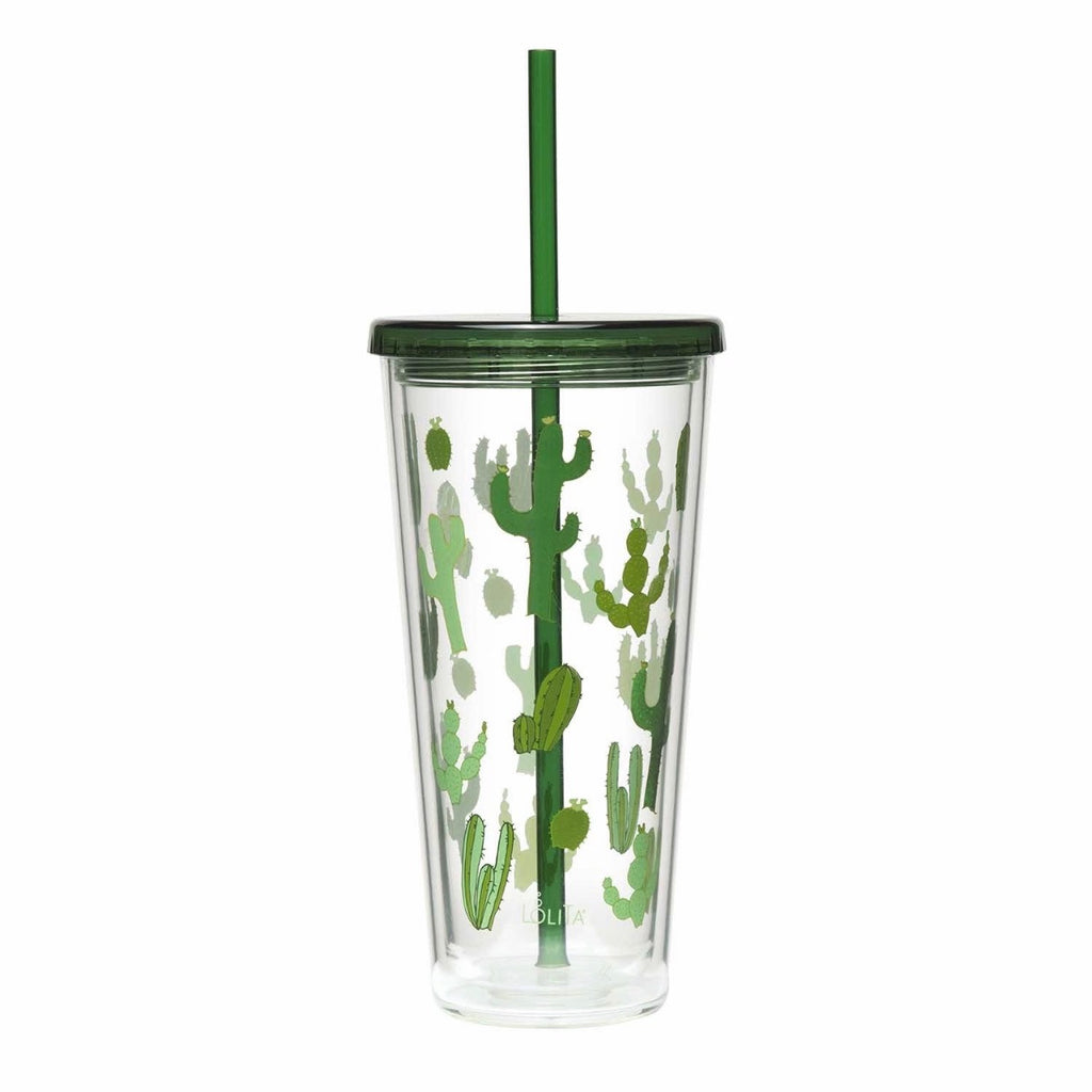 Funky CACTUS travel straw tumbler