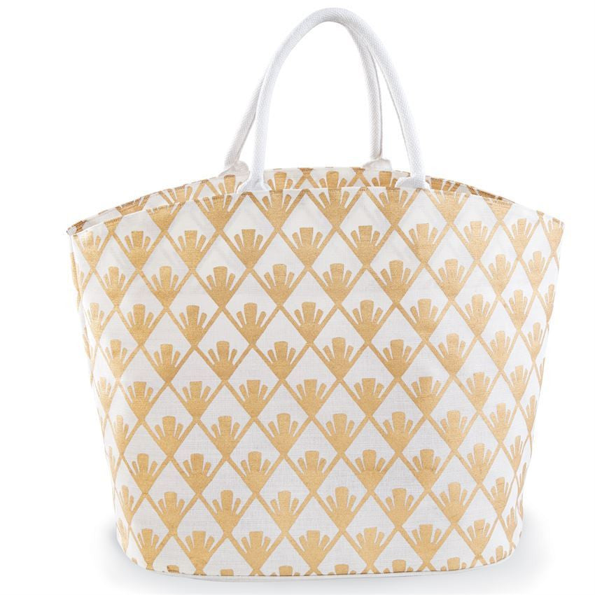 Gold Shimmer Juco Beach Tote Bag