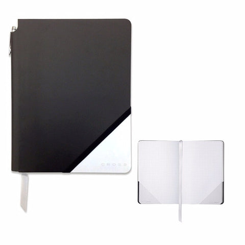 CROSS Jotzone black and white medium grid journal and pen set