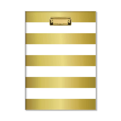 Glam Gold Stripe Padfolio