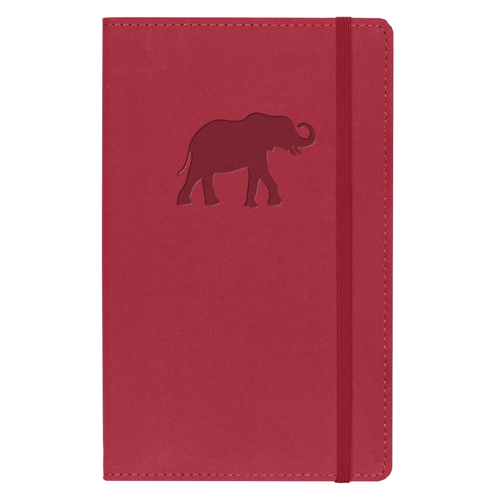Red Elephant leatherette journal notebook