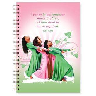 Pink and Green Three Ladies Journal