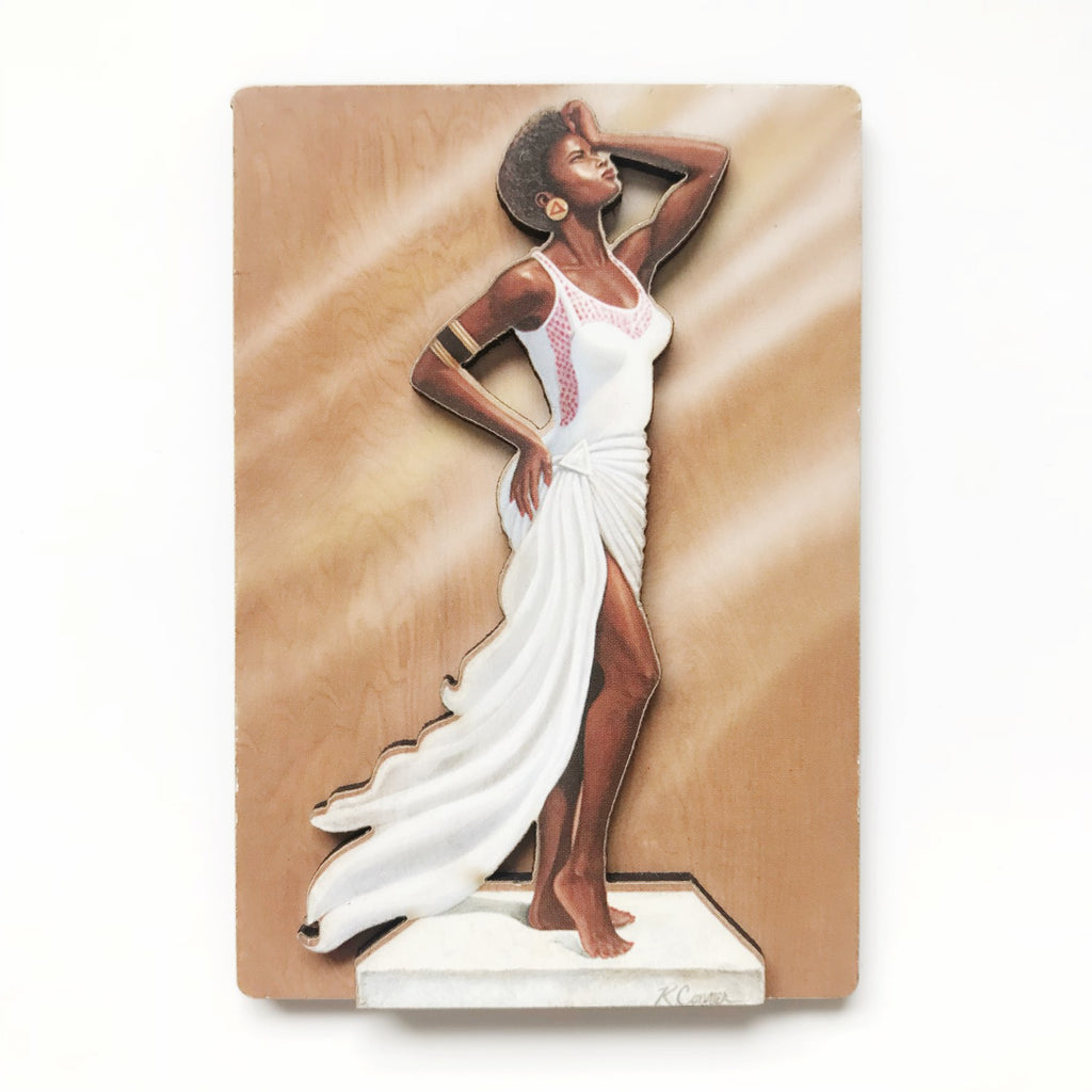 DIVA wood magnet