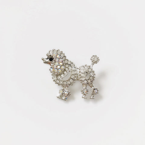 Small Poodle Brooch Pin