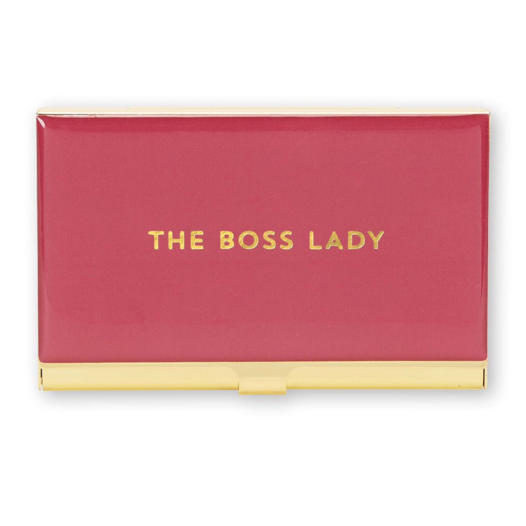 THE BOSS LADY business card holder
