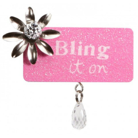 Bling It On treasured plaque magnet decor