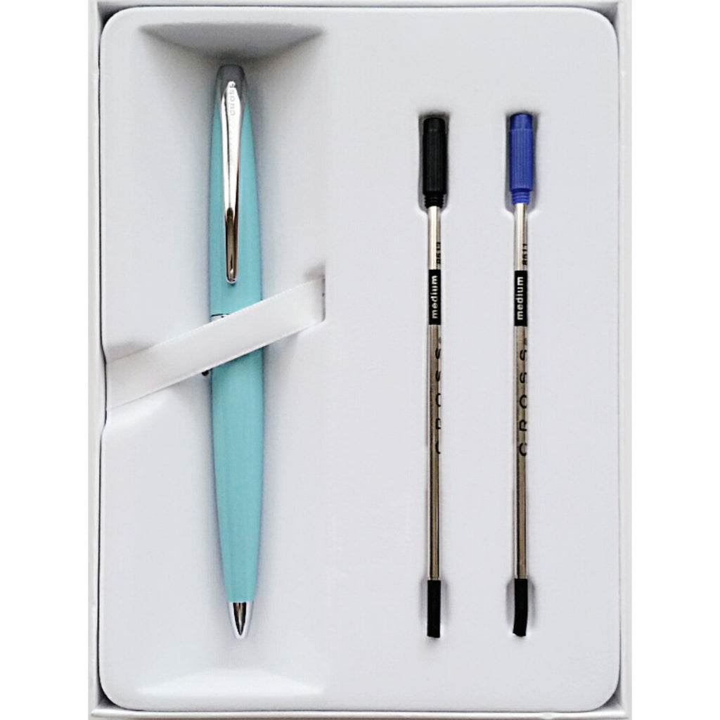 CROSS ATX Pearlescent Teal Bleu Canard Ballpoint Pen Gift Set
